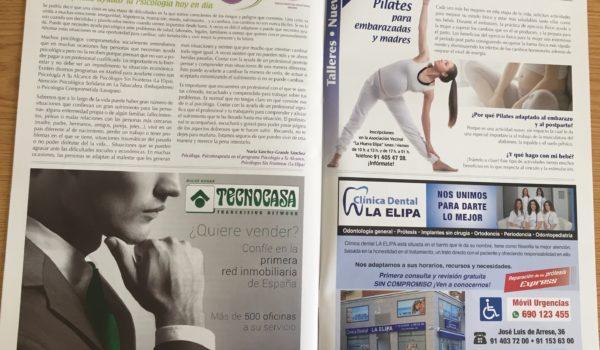 Foto del artículo de la revista en la que se habla de psicólogos en Madrid con tarifas especiales