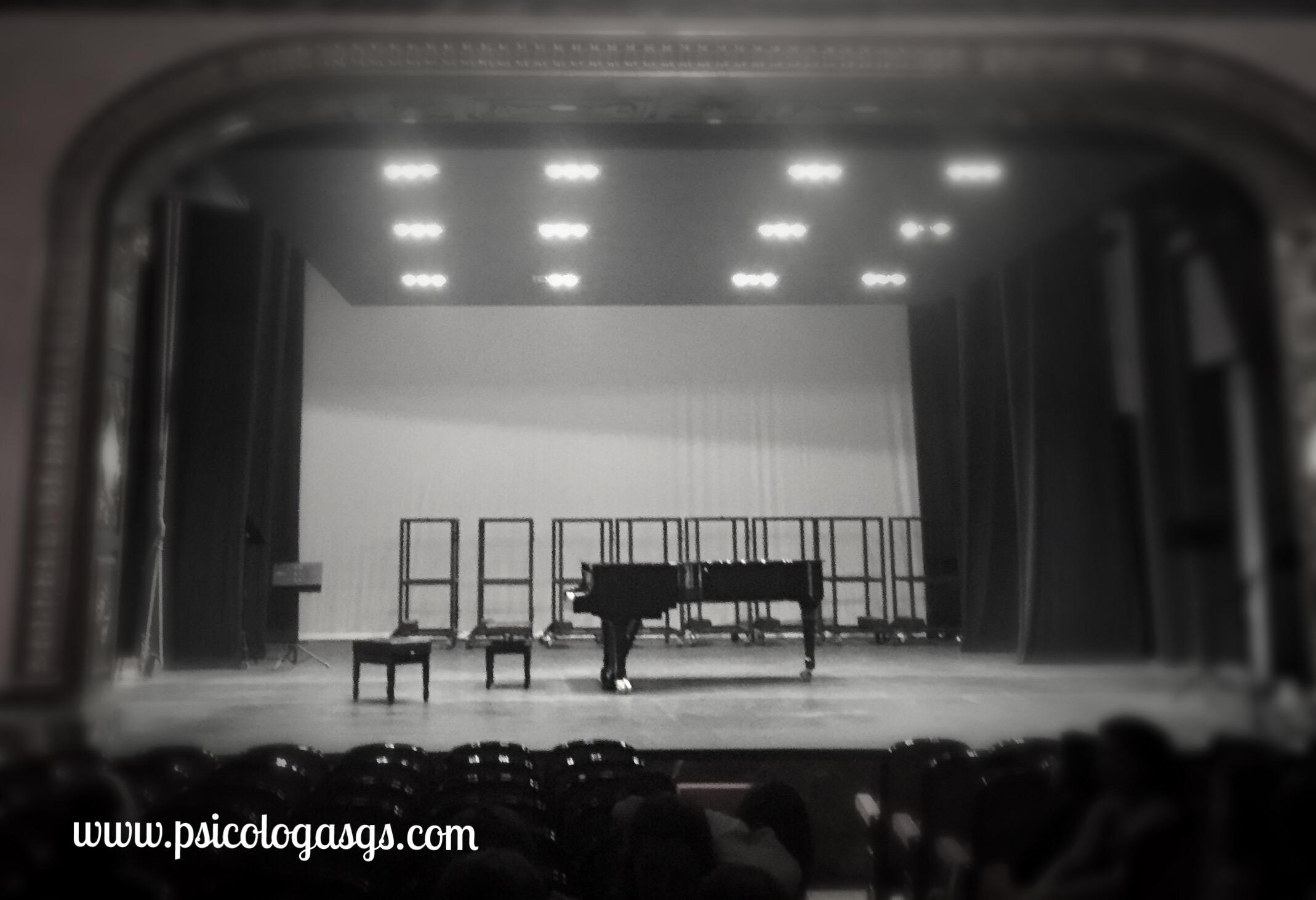 Miedo escénico al subirse a un escenario